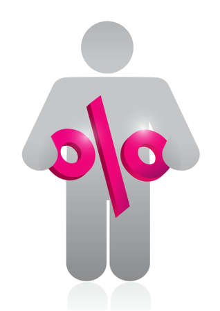 percentage sign: icon holding a percentage sign. illustration design graphic