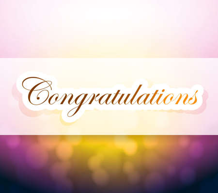 congratulations sign: congratulations bokeh light sign illustration design background Stock Photo