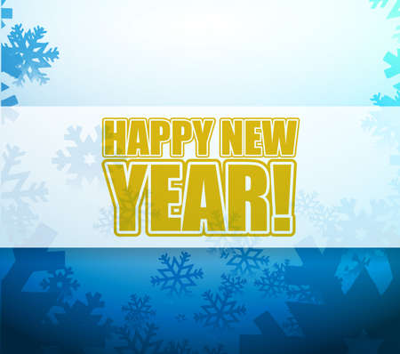 christams: Happy New Year snowflake light sign illustration design background Stock Photo