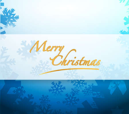 christams: Merry Christmas snowflakes light sign illustration design background Stock Photo