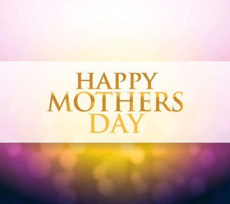 day light: Happy Mothers Day bokeh light sign illustration design background