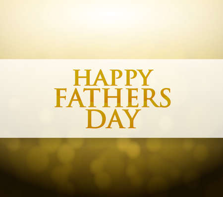 day light: Happy Fathers Day bokeh light sign illustration design background