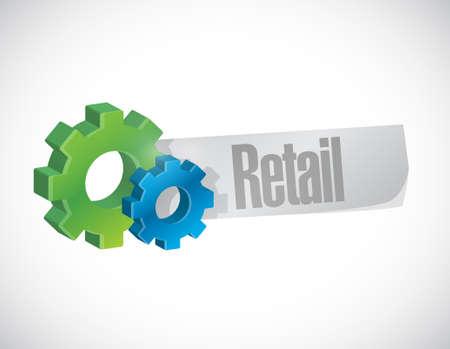 market place: retail industrial sign concept illustration design graphic
