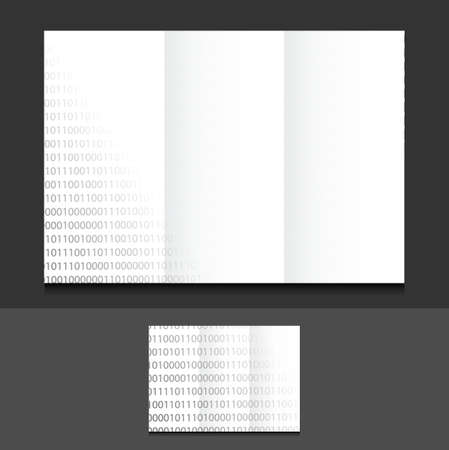 tri: tri fold binary illustration design graphics background
