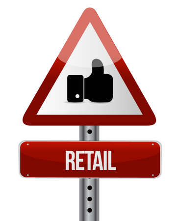 retail warning sign concept illustration design graphic