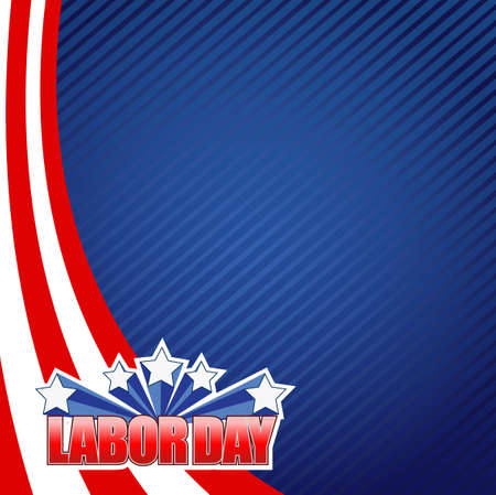 labor day star sign illustration design graphic background