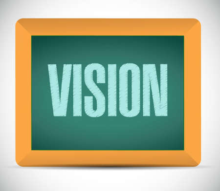 new opportunity: vision blackboard sign concept illustration design graphic