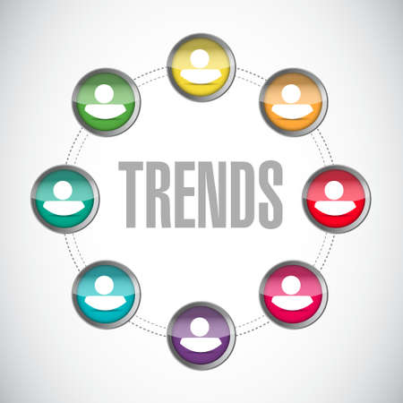 trends: trends community sign concept illustration design over white