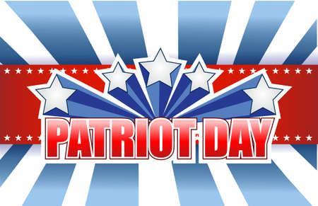 patriot: patriot day sign illustration design graphic background Illustration