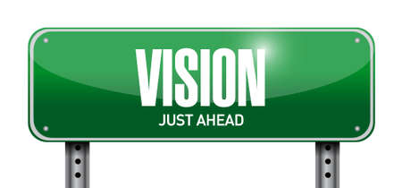 new opportunity: vision road sign concept illustration design graphic