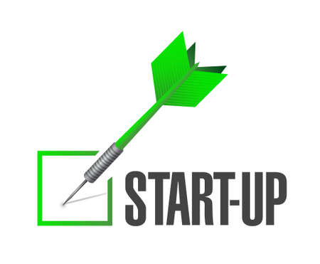 check mark sign: Start-up check mark sign concept illustration design artwork
