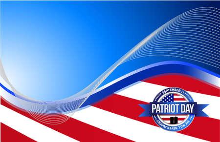 national hero: US patriot day sign illustration design graphic background