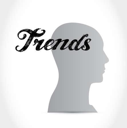 trends: trends mind sign concept illustration design over white