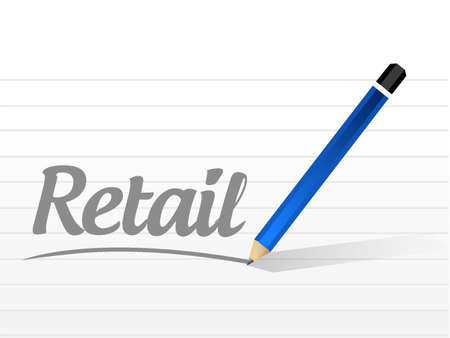 retail message sign concept illustration design graphic