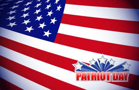 patriot day flag seal illustration design graphic background Illustration