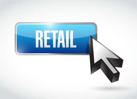 market place: retail button sign concept illustration design graphic