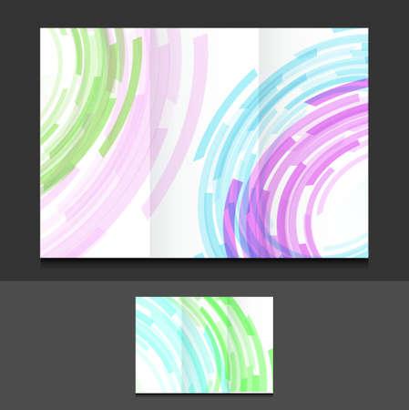tri  color: tri fold color circles illustration design graphics