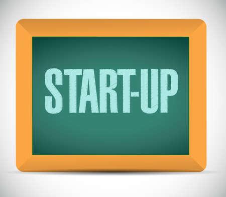 founding: Start-up chalkboard sign concept illustration design artwork