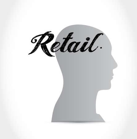 market place: retail head sign concept illustration design graphic