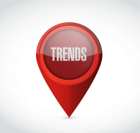 trends: trends pointer sign concept illustration design over white