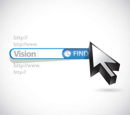 vision search bar sign concept illustration design graphic Illustration