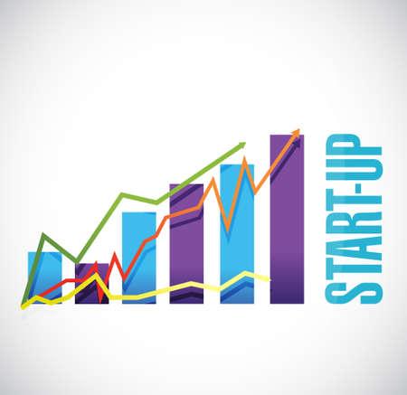 founding: Start-up business graph sign concept illustration design artwork Illustration