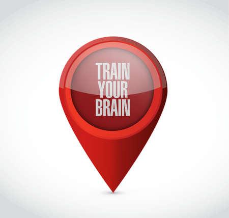 train your brain pointer sign concept illustration design Illustration