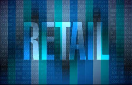 market place: retail binary sign concept illustration design graphic