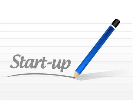 founding: Start-up message sign concept illustration design artwork