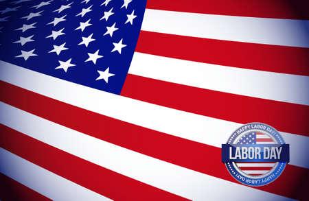 labor day flag sign illustration design graphic background Ilustrace
