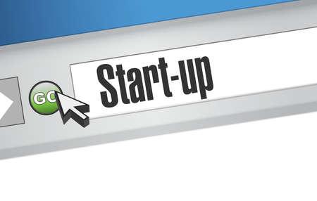 founding: Start-up browser sign concept illustration design artwork