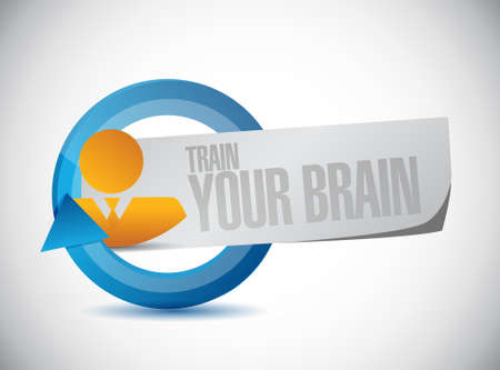train your brain cycle sign concept illustration design Banco de Imagens - 43695571