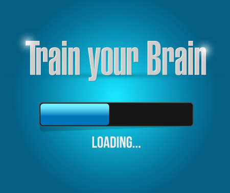 memories: train your brain loading bar sign concept illustration design
