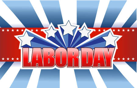 national hero: labor day sign illustration design graphic background