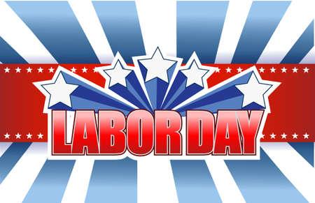 labor day sign illustration design graphic background
