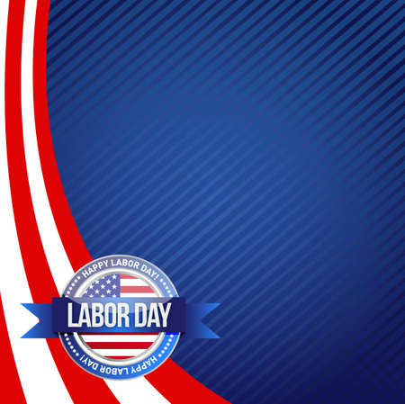 labor: patriot day seal sign illustration design graphic background