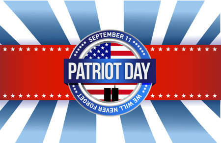 usa patriotic: patriot day seal sign illustration design graphic background