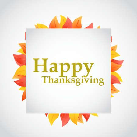 Gelukkig van de de herfstbladeren van het dankzeggingontwerp de illustratieontwerp Stock Illustratie