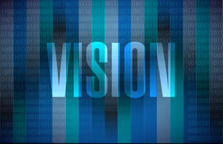 vision concept: vision binary sign concept illustration design graphic