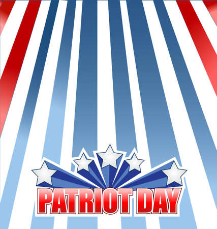 national hero: patriot day star sign illustration design graphic background Illustration