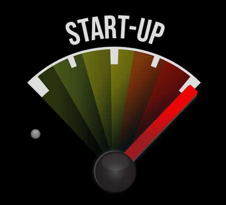 Start-up meter sign concept illustration design artwork