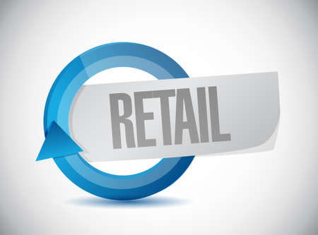retail cycle sign concept illustration design graphic