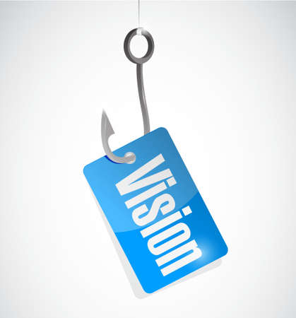vision concept: vision fishing hook sign concept illustration design graphic