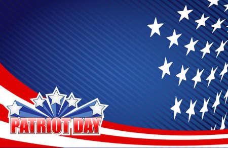 observance: patriot day star sign illustration design graphic background Illustration