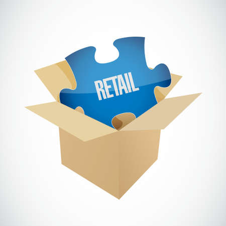 retail missing piece sign concept illustration design graphic