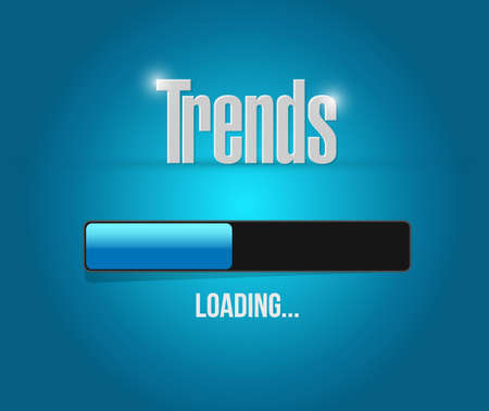 business trending: trends avatar sign concept illustration design over white Illustration
