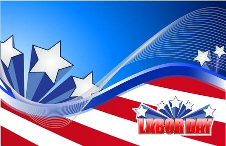 national freedom day: labor day star sign illustration design graphic background
