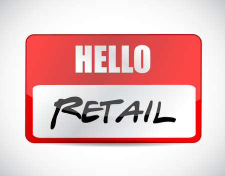 retail name tag sign concept illustration design graphic