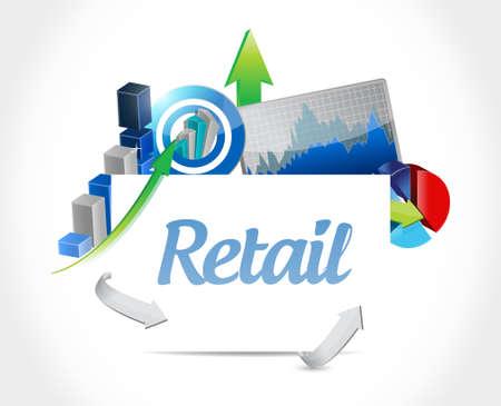 global market: retail business graph sign concept illustration design graphic