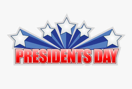 presidents day sign illustration design graphic artwork